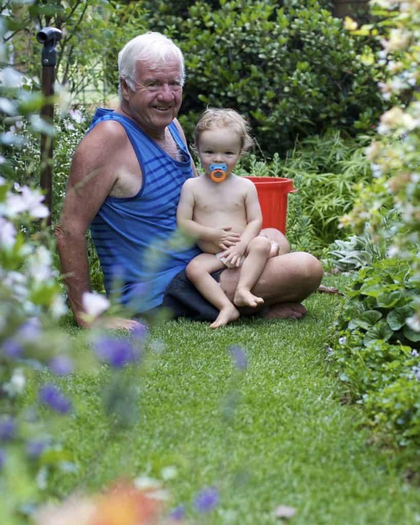 With Grandpa in the Garden