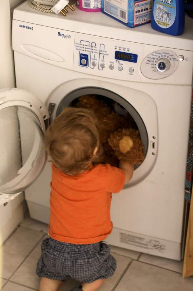 Place Toys in Washer