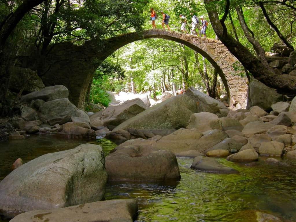 Ponte Zaglia Geneose Bridge, Gorges Spelunca