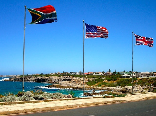 All the flags, Hermanus